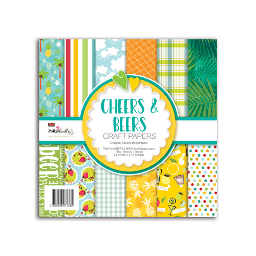 """Cheers and Beers - male/men's themed 6 x 6"""" paper pack"""
