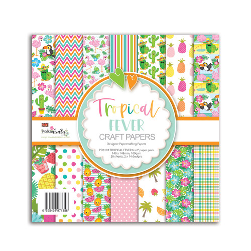 """Tropical Fever - holiday/vacation party themed 6 x 6"""" papercrafting pack"""
