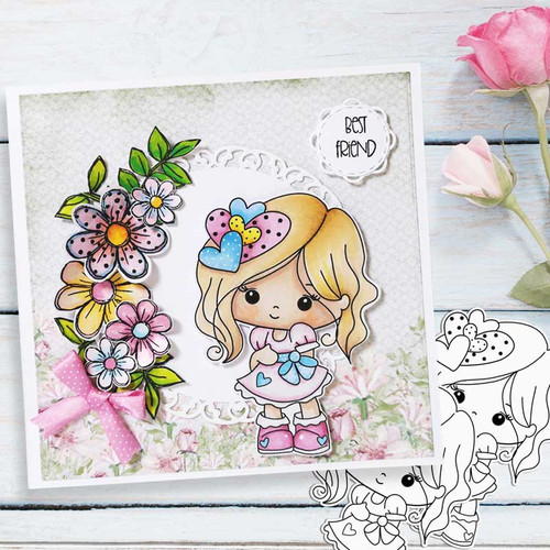 Just Lovely - Honeypie (black & white digi stamp)- printable downloads with free SVG /DXF files