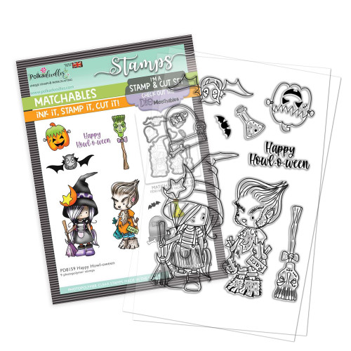 """Happy Howl-o-ween 4 x 6"""" Stamp set - Matchables"""