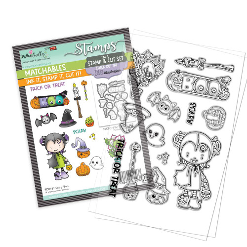 """Scary Boo 4 x 6"""" Stamp set - Matchables"""