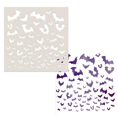 """Going Batty stencil 6 x 6"""""""