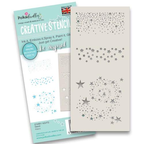 """Starry Nights stencil 4x 8"""""""