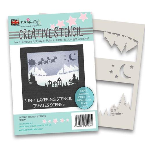 """Scenic Christmas stencil 6 x 6"""""""