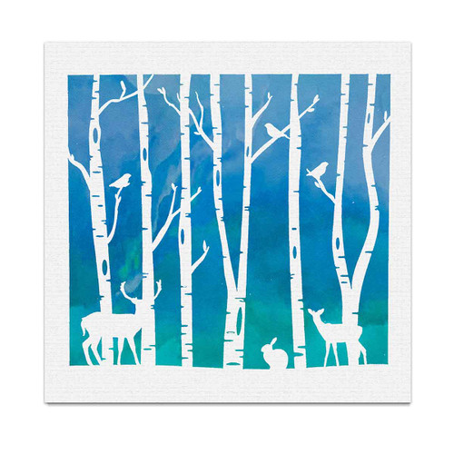 "Woodland stencil 6 x 6"""