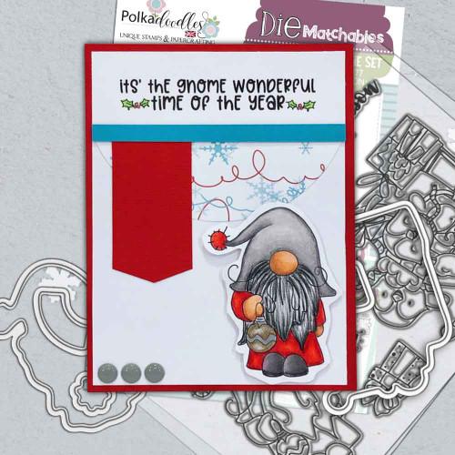 "Gnome Tis the Season Matchables 4 x 6"" Stamp set"
