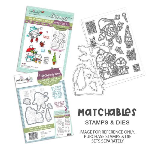 "Gnome Let it Snow Matchables 4 x 6"" Stamp set"