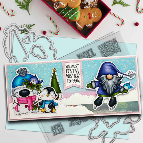 Gnome Let it Snow Matchables die set