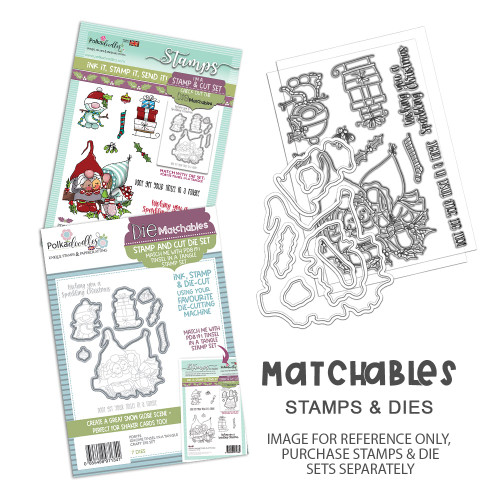 """Gnome Tinsel in a Tangle Matchables 4 x 6"""" Stamp set"""