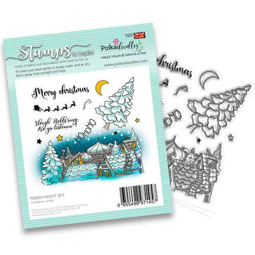 """Night Sky stamp 4 X 4"""""""