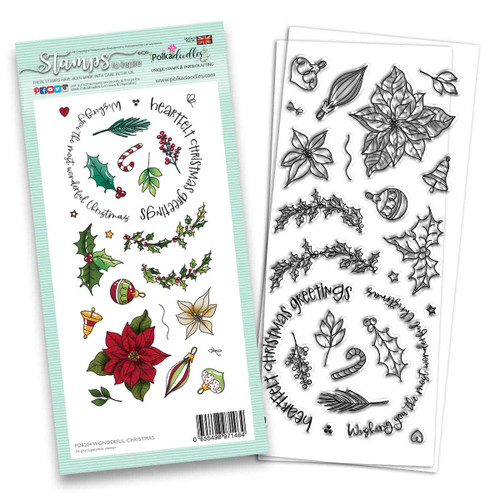 "Wonderful Christmas stamp 4 X 8"""