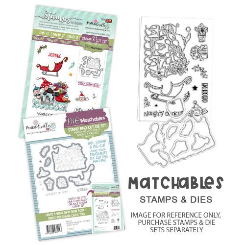 Gnome Naughty or Nice Matchables Stamp set