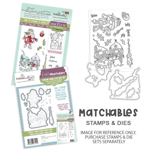 Gnome Jolly Holly Wishes Matchables Stamp set