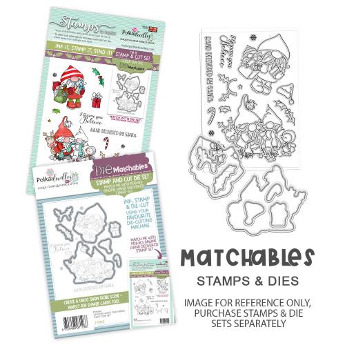 Gnome Hand delivered Matchables Stamp set