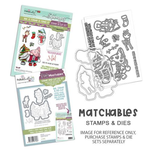 "Gnome Meet Me Under the Mistletoe Matchables 4 x 6"" Stamp set"