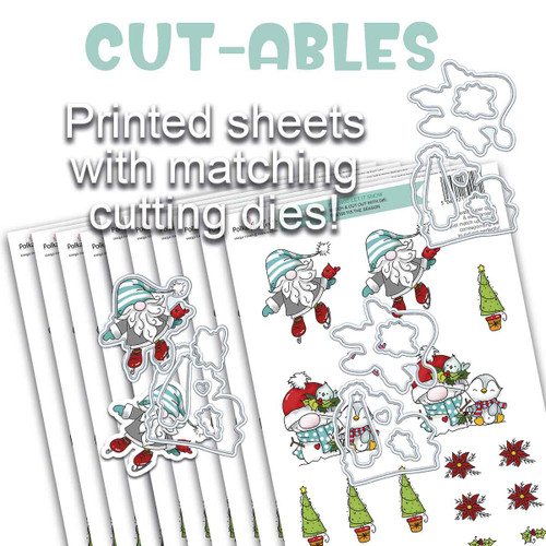 Cut-ables 10 printed sheets - Gnome Let it Snow