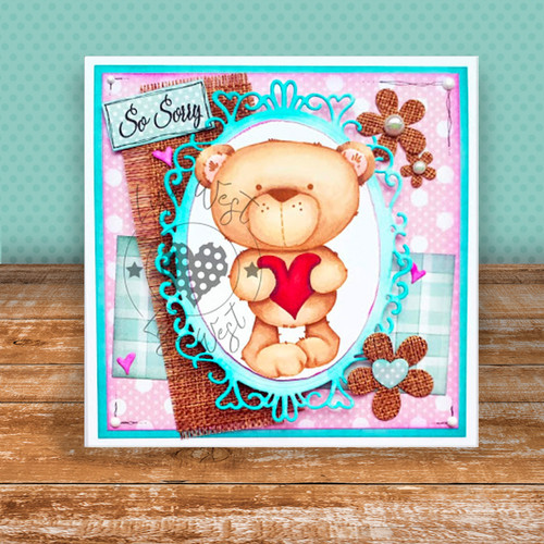 Winston Bear Heartfelt printable digi download