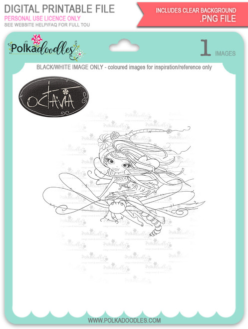 Octavia Moonfly Dragonfly - Digital Stamp Craft Download