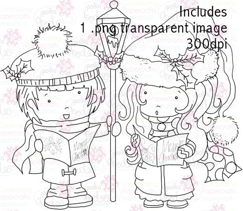 Hollybobs Choir digital stamp download