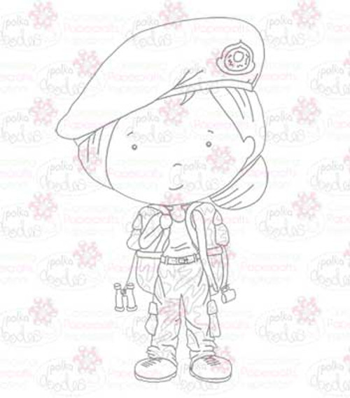Army/Military Girl digital stamp download
