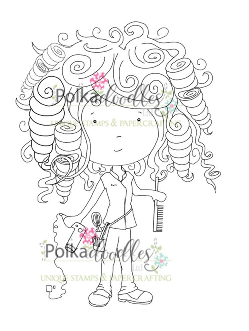 Hairdresser digital stamp download