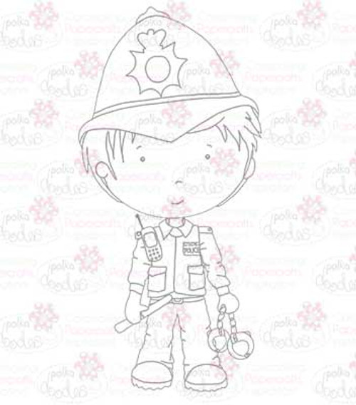 Policeman digital stamp download