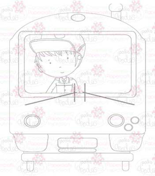 Train Driver digital stamp download