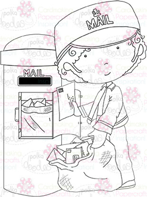 Post/mail man digital stamp download