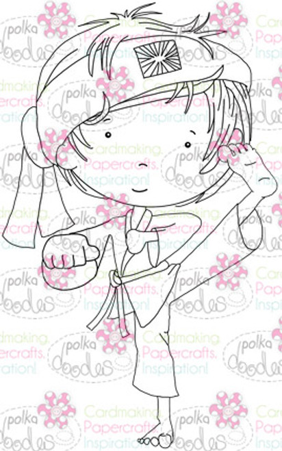 Karate Martial Arts Boy digital stamp download