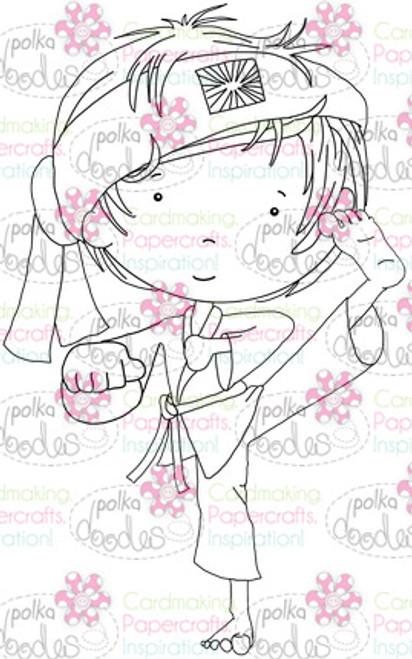 Karate Martial Arts Boy digital stamp download