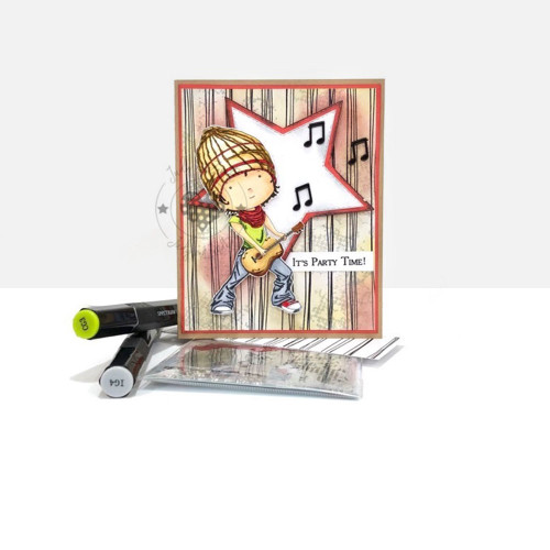 Guitar Boy digital stamp download