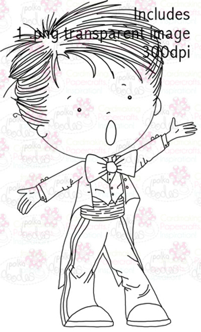 Opera Singer Boy digital stamp download