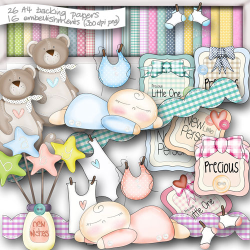Baby Boom Digital Craft download bundle