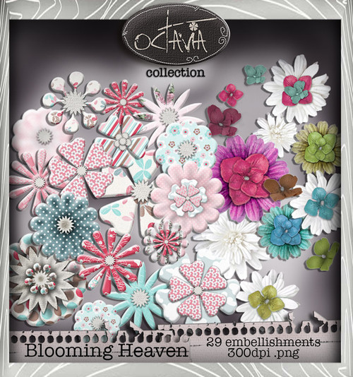 Octavia Moonfly - Blooming Heaven Digital Craft Download Bundle