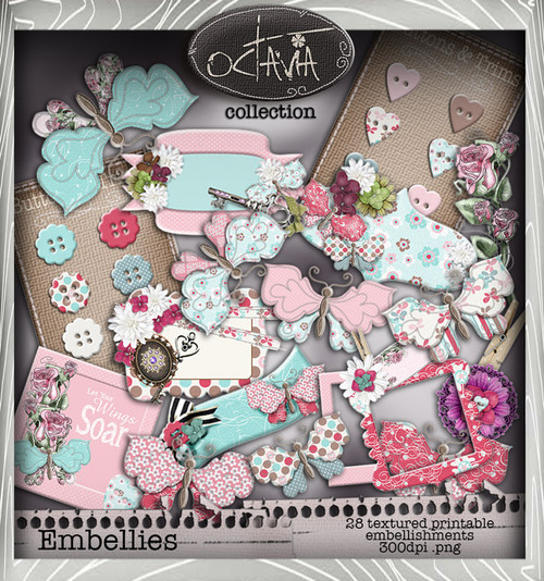 Octavia Moonfly - Embellish It Digital Craft Download Bundle