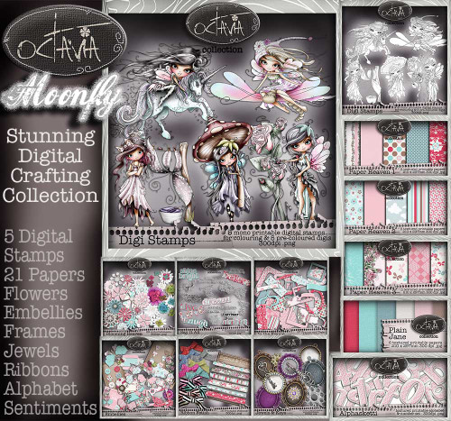 Octavia Moonfly  BIG KAHUNA Digital Craft Download bundle
