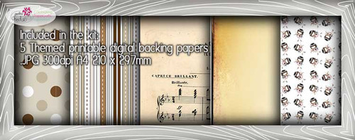 Violin Theme Paper Craft download