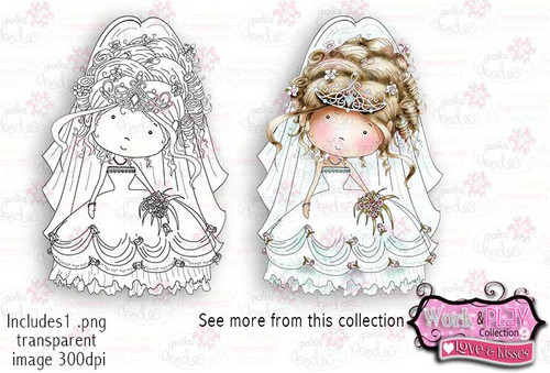 Bride Digital Craft Stamp download