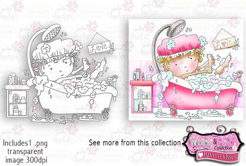 Getting Ready/Pamper Digital Craft Stamp download