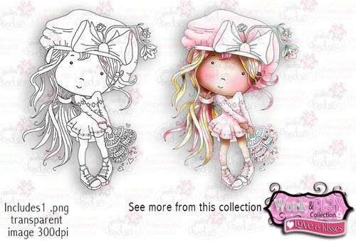 Love&Kisses Digital Craft Stamp download