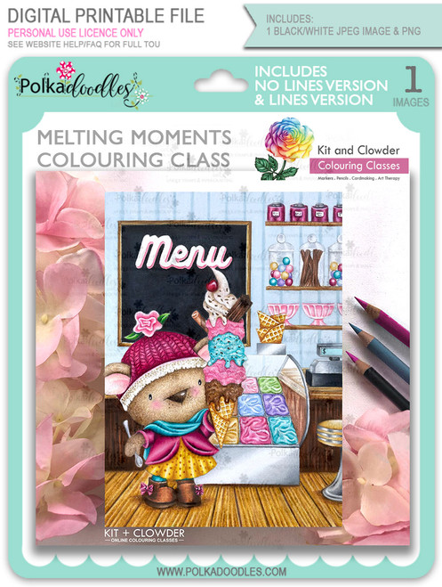 Melting Moments - Kit & Clowder ONLINE Class - Bella Bear