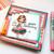 Ruby birthday cake - black/white digi stamp download