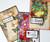 Flower Collage Stamp set - clear stamp set (DL size)