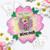 Bella Bear with Milkshake - digi stamp/with SVG/DXF Cutting File