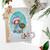 Rudolph Reindeer Wreath - precoloured Winnie North Pole digital stamp download including SVG file