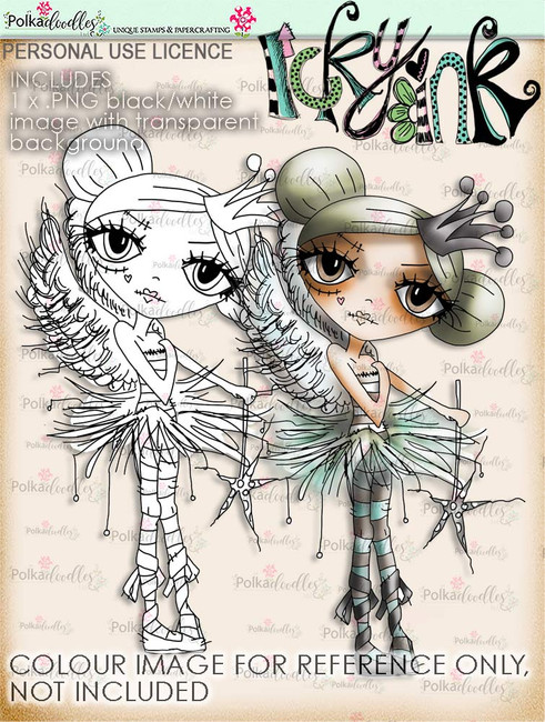 Oddella Fairy - Ickyink Art alternative digistamp Craft Download