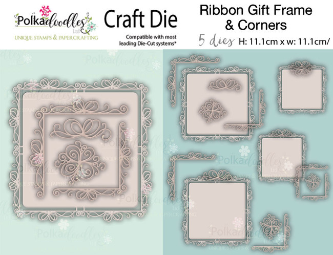 Ribbon/Gift frames & Corners - Craft cutting die