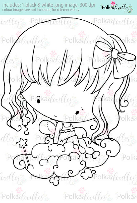 Lil Miss Angel Cloud - Sugarpops Kit 2...Craft printable download digital stamps/digi scrap kit