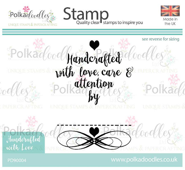 Handcrafted by - Crafter's stamp