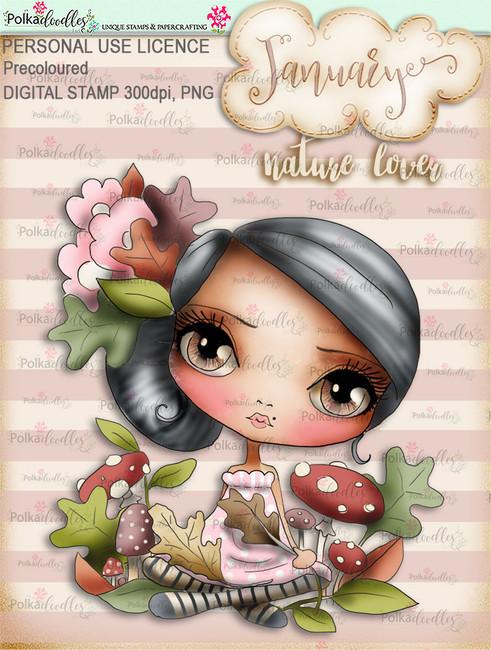 Nature Lover - January. Craft digi download